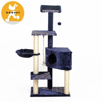 Sisal Scratch Posts Deluxe Diy Cat Tree With Climbing Rope Toys