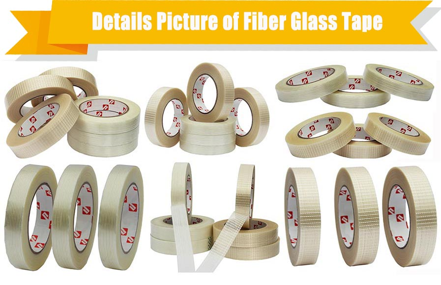 Double sided Wrapping Fiberglass Reinforced Filament Tape for EPDM Sealing