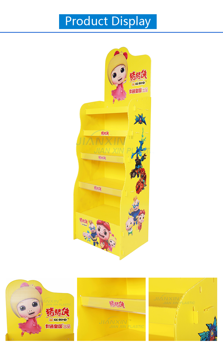 Customized Light Weight Corrugated Plastic Display
