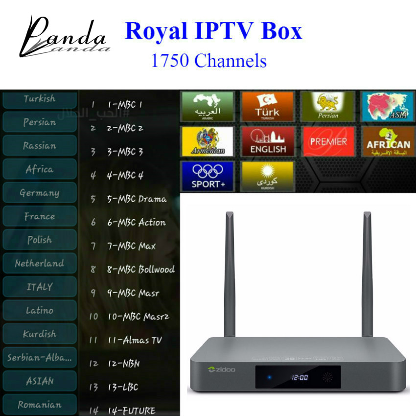X9S ZIDOO IPTV CUADRO de TV Android 6 0 + Real 1730 +