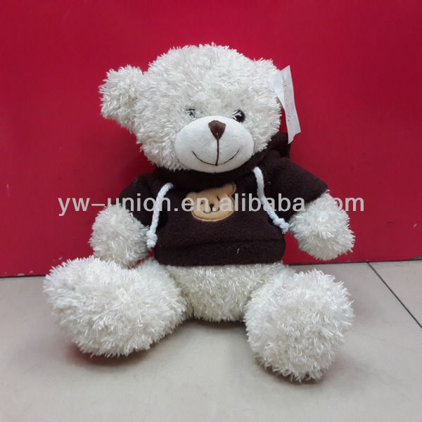 Black T-shirt 25cm Wholesale teddy Bear For Kids stuffed baby White Bear Toy