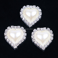 20mm Heart Metal Rhinestone Button With multi color acryl Center Wedding Embellishment DIY Accessory Factory Price