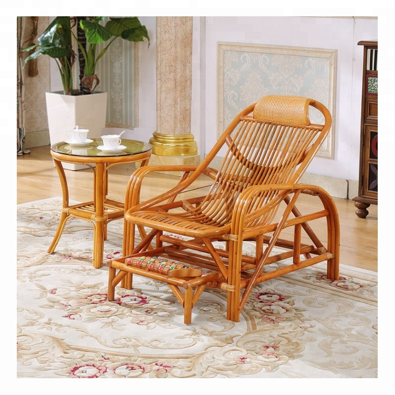 Modern Living Room Furniture 3 Piece Set Cane Wood Rattan Wicker Table  Chair And Rocking Chair - Buy Cane Rocking Chair,Cane Table,Rattan Wicker  Chair ...