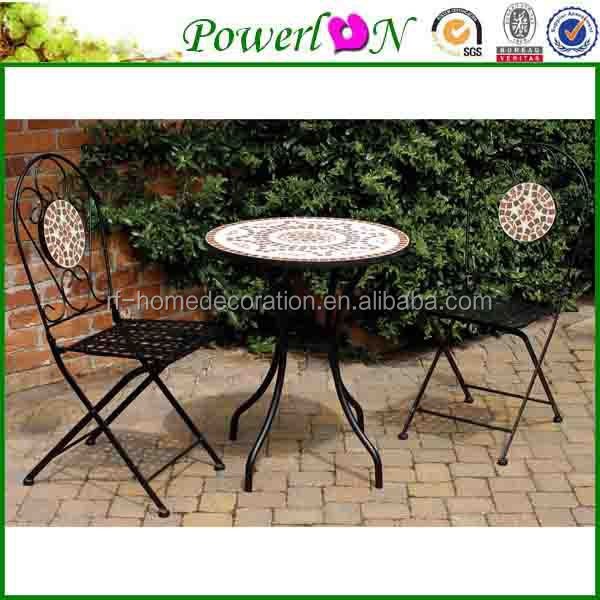 Cheap Price Paint Color Folding Wrought Iron Garden Bistro Set Outdoor Furniture For Home Patio I26M TS05 X13 PL08-1070CP