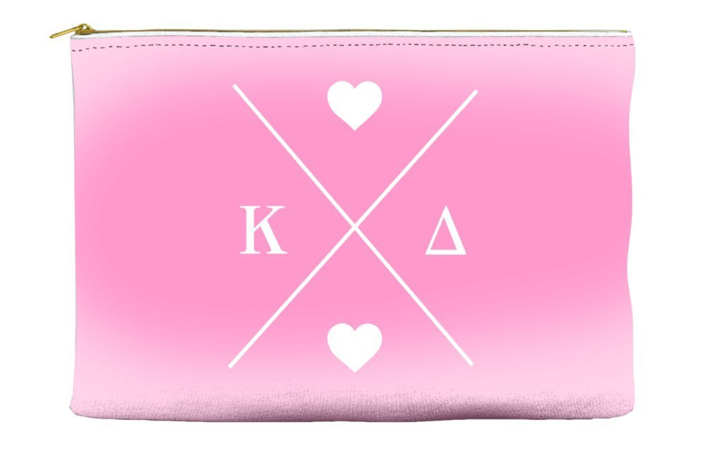 Kappa Delta Hipster Logo Pink Cosmetic Accessory Pouch Bag for Makeup Jewelry & other Essentials