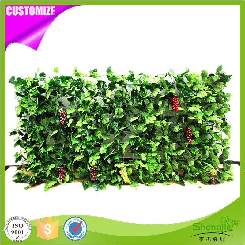 New arrival artificial grape vines green wall hanging plant for garden decoration
