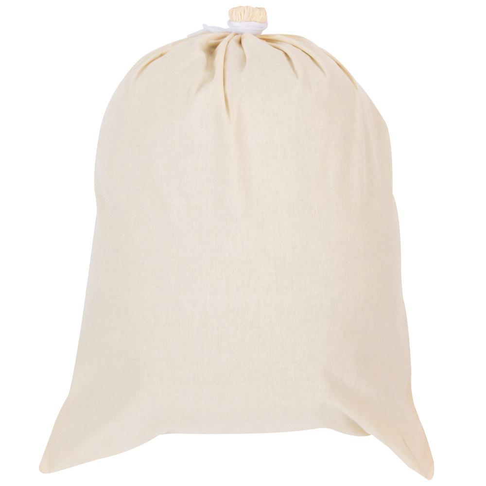 Customized Drawstring Washable Cotton Canvas Laundry Bag