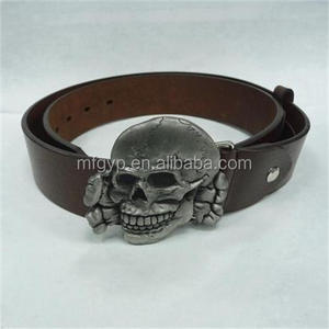 New design skull guangdong belt buckle with logo
