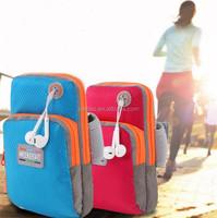 Factory wholesale fashion custom useful sport mobil phone arm bag/arm pouch/handphone bag mobile phone waterproof cell phone bag