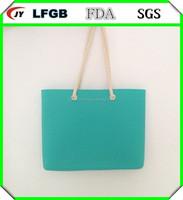 2014 best selling new fashion handbag silicone tote bag for ladies