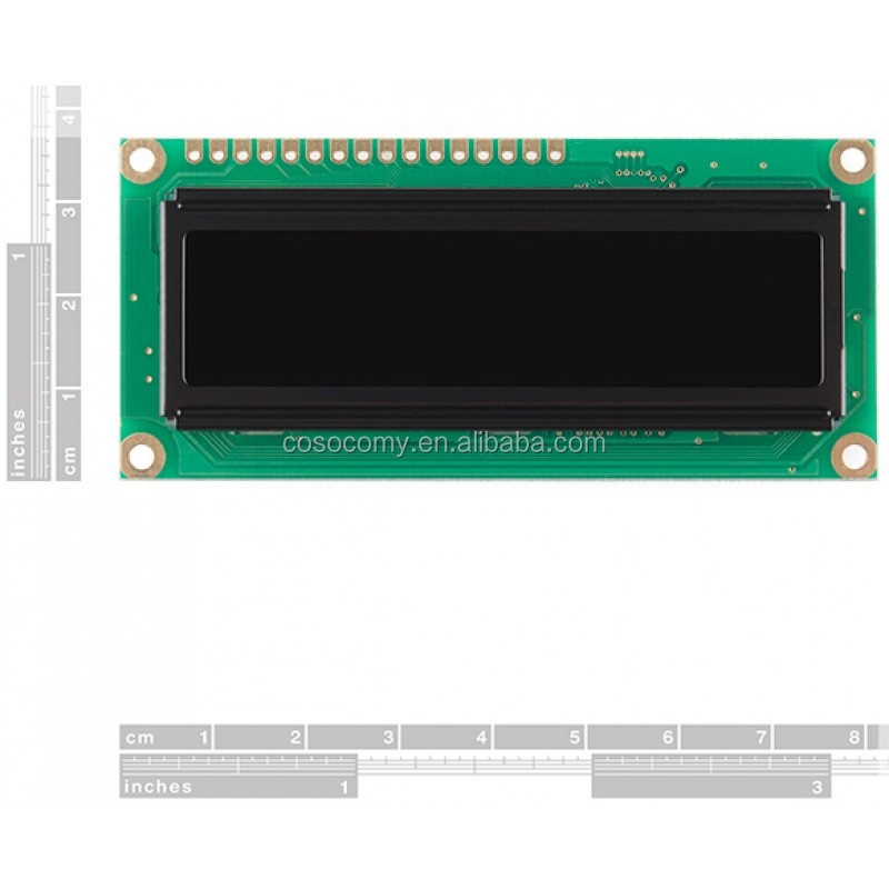 5V 16x2 Character OLED Display - Yellow on Black
