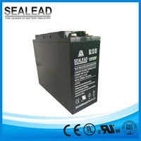 front terminal serials enhanced ABS cover flat plate lead acid vent valve controller 12v 55ah and 55amp solar power battery