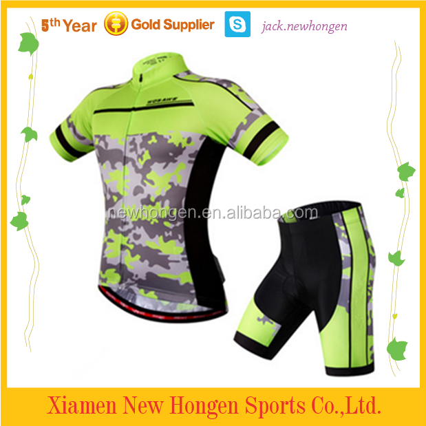 Customize camouflage biking sportswear/cycling jersey/bicycle apparel