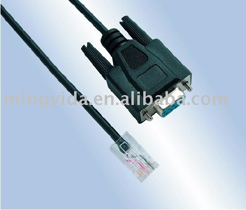 RS232 cable(DB 9p to RJ45 Cat5 Lan cable)