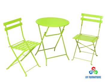 Whole Bistro Sets Outdoor Steel Table Set Folding Metal Supplier