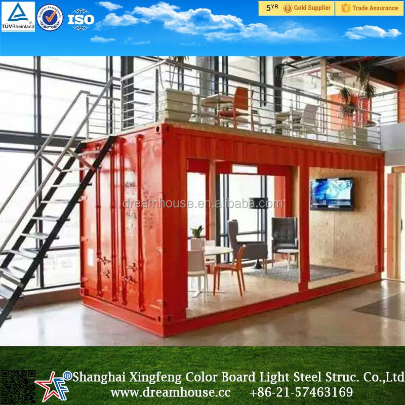 Luxury shipping container house mobile restaurant prefab for Food bar 36 cafe