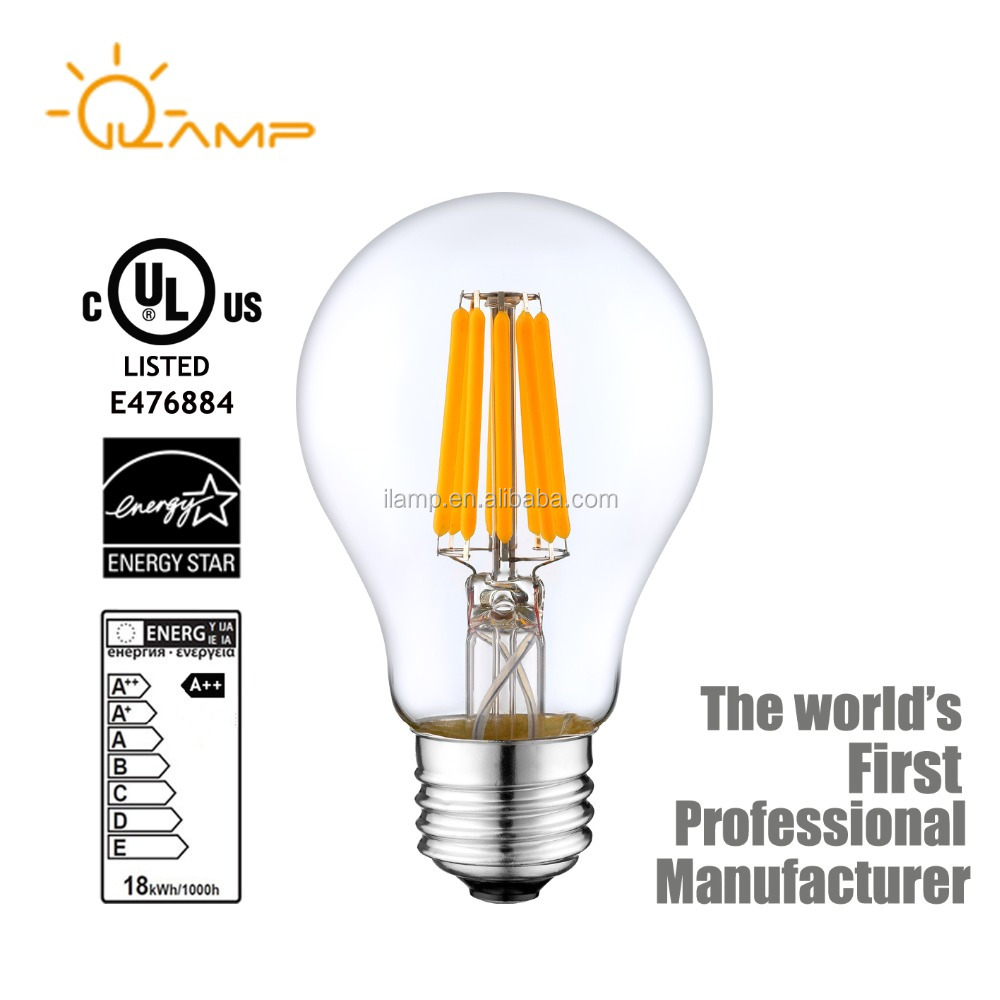 Free sample E12 E26 A19 A60 C35 America USA US Dimmable LED Bulb Filament Light Lamp 2W 4W 6W 8W