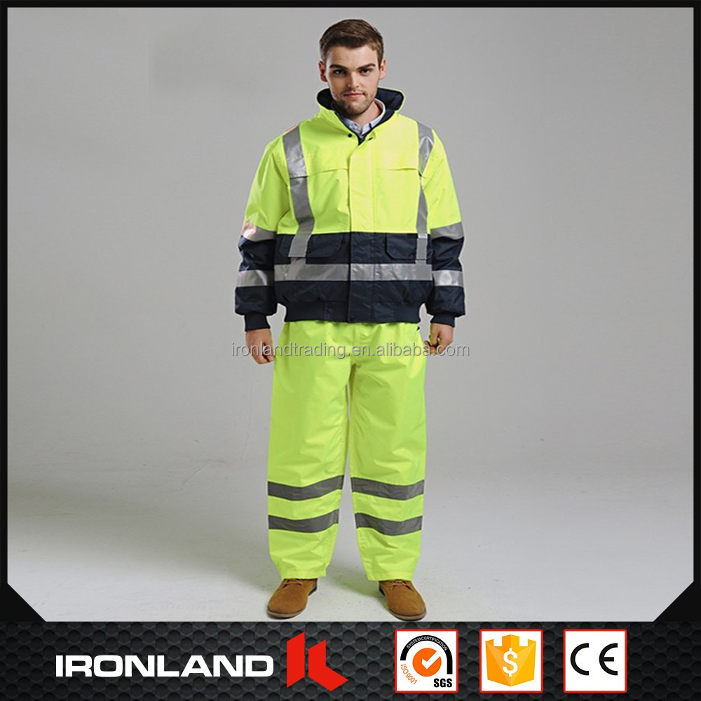 2017 high visibility reflective military rain coat suit