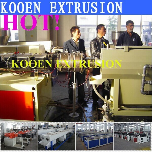 HDPE PE plastic pipe extrusion machine with high quality