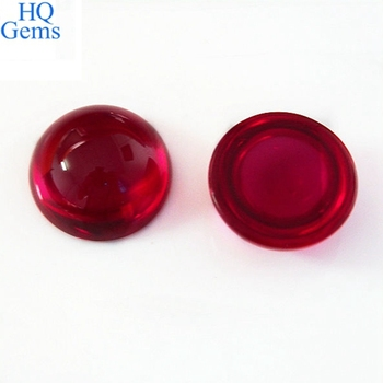 Wholesale Synthetic Ruby Gemstone Cabochon 8mm Flatback Beads ...