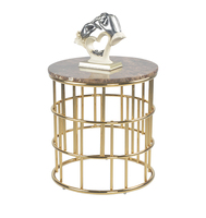 marble top stainless steel end table cheap sofa side table