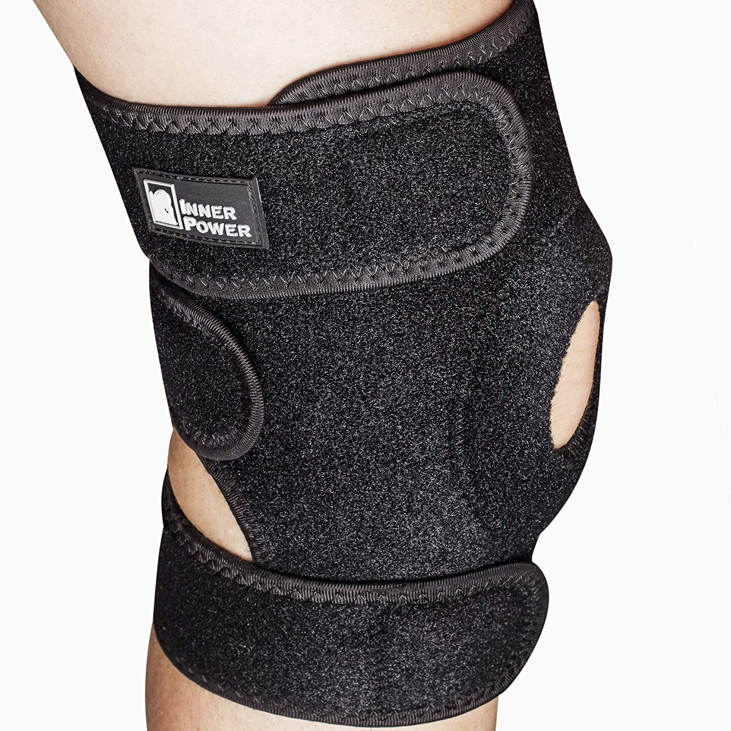 80706ed30a Get Quotations · Patella Stabilizing Knee Sleeve Support by InnerPower |  Comfortable, Breathable Neoprene Knee Brace Support Sleeve