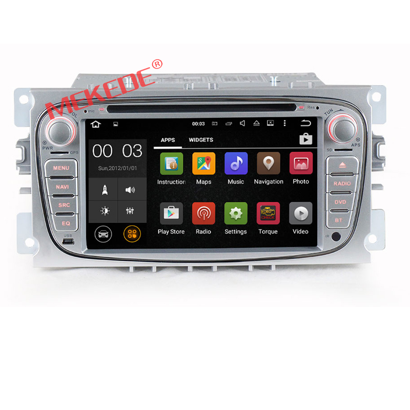 Factory price Android 7.1 CAR DVD player for ford Mondeo S-MAX Connect f ocus 2008 2009 2010 with DVD audio GPS navi 4G WIFI BT