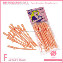 10 pz Hen Night Party Accessori Willy Girls Night Bere Nudo Pene di Paglia