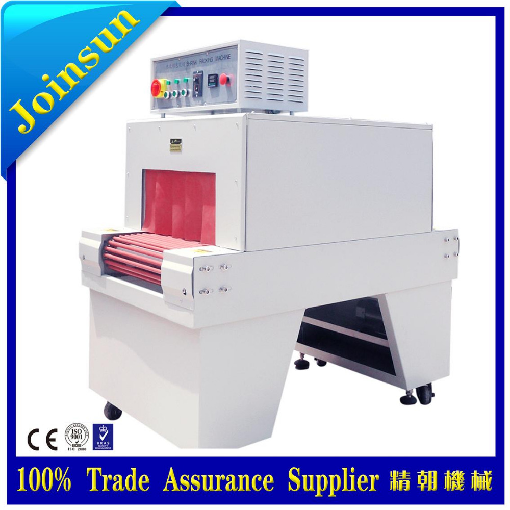 plastic shrink wrapping packaging machine for carton box