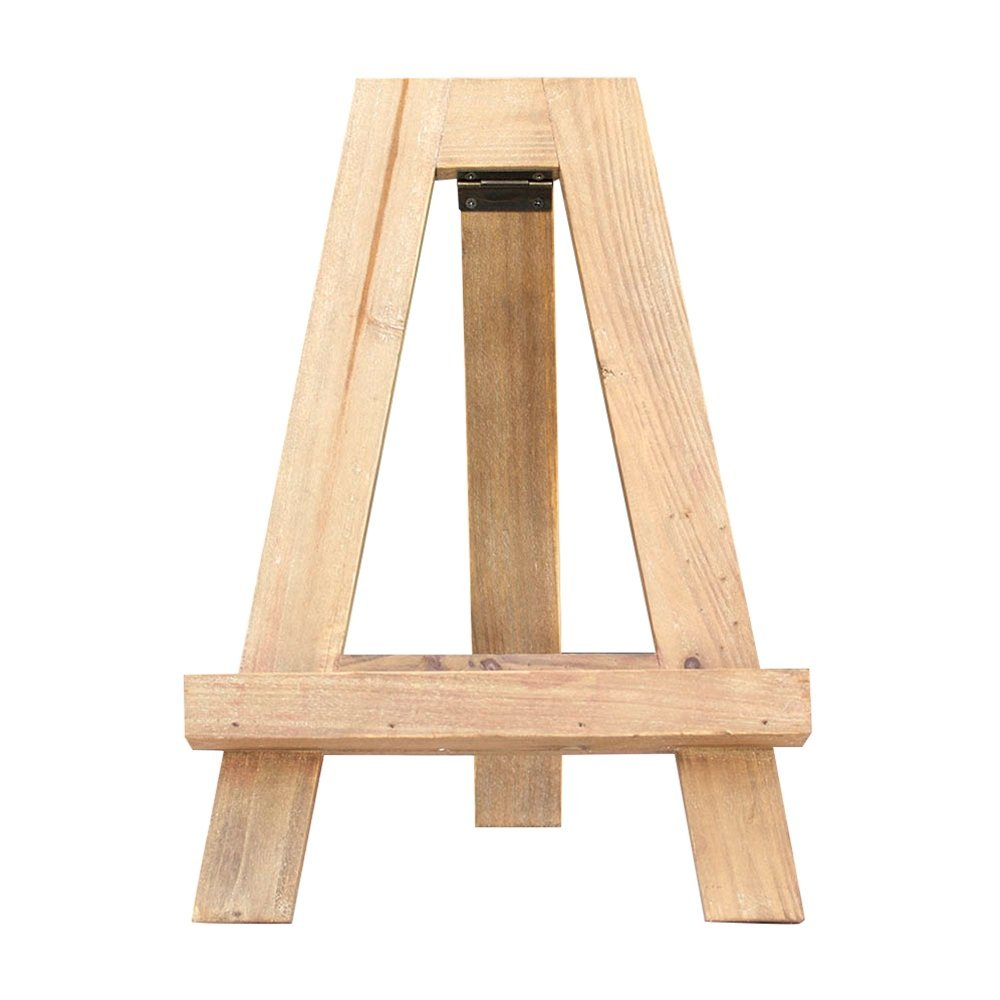Tabletop Easel, Rustic Wooden Display Stand, Table Number Holder, 12.75  Inches Tall,