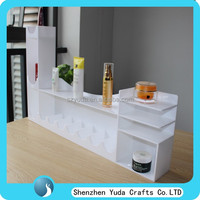 Milk-white acrylic makeup case, composite cosmetics display units