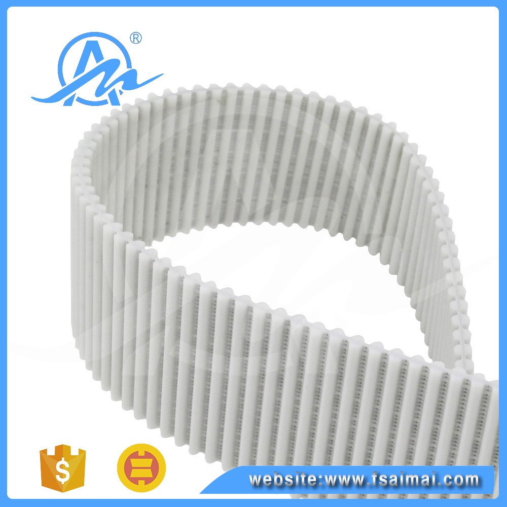 Power transmission 3M white Pu timing belt for joint machine industry