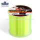 Handing 500m Monofilament Super Power Nylon Fishing Line Fluorescent coating Color