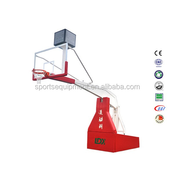 Hot sale basketball hoops stand tempered glass backboard basketball base
