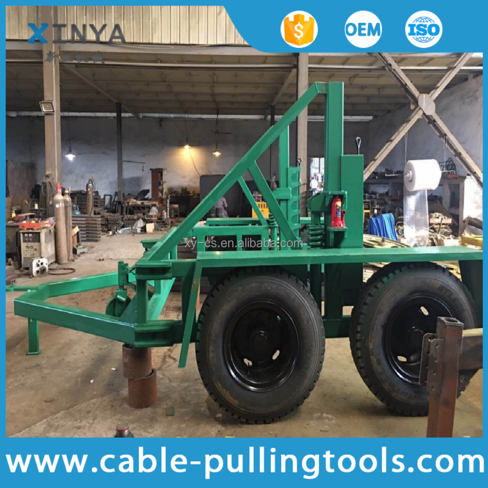 12 Ton Load Capacity Underground Cable Installation Tool Cable Drum Carrier