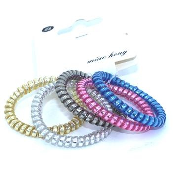 Thin Elastic Wholesale telephone wire line cord hair ties plastic headband aa89d7be316