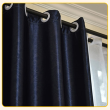 Free sample embossed blackout fabric curtain for hotel use