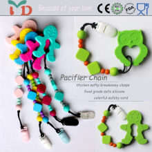 Hot Sale BPA Free 100% Food Grade Custom Silicone Teething Pendant