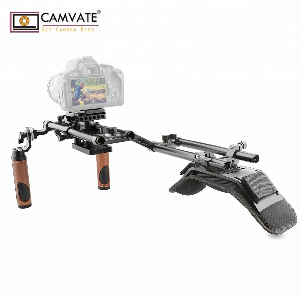 CAMVATE Ergonomic Design Good Dslr Shoulder Rig for DSLR and Camcorder