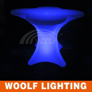 Indoor and Outdoor Plastic Illuminated LED Cheap Restaurant Tables Chairs