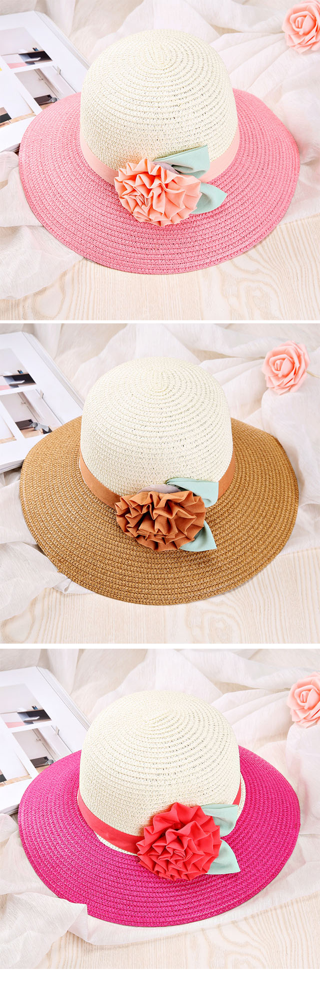 Top Quality Cheap Wholesale Custom promotion hat child jazz caps straw beach hats made in China