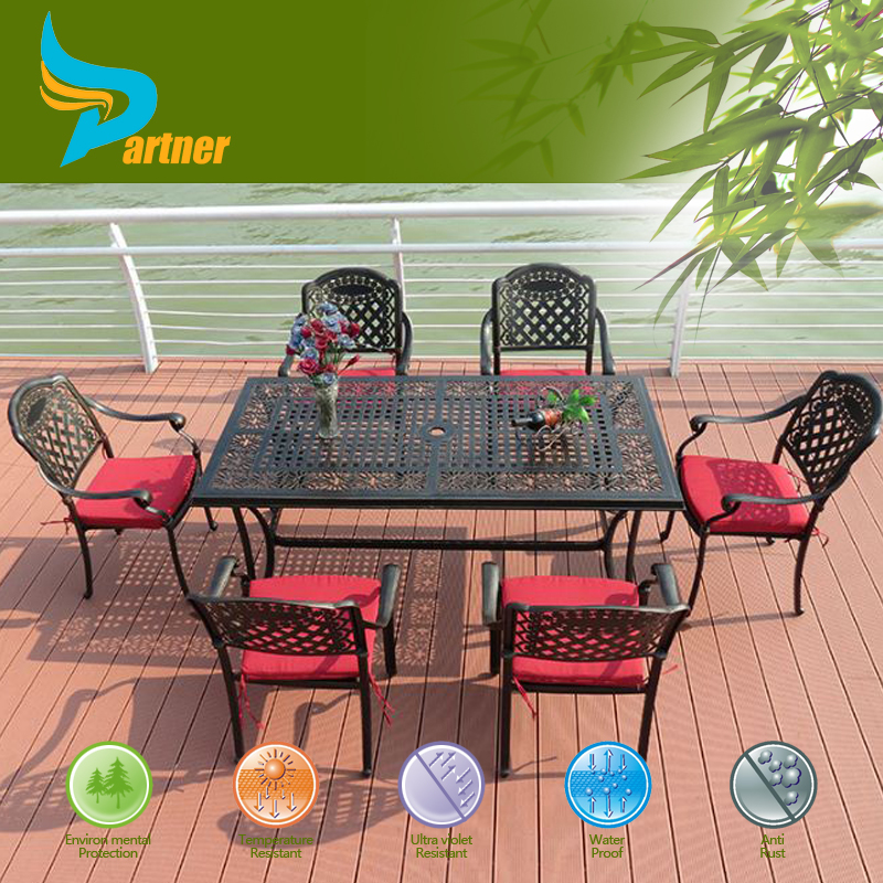 European Style Outdoor Furniture Cast Aluminum Patio Bistro Table And Chair Metal Garden Furniture