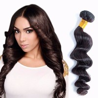 Alibaba Store Full Cuticle Aligned cheap brazilian natural color uk loose wave hair with closure