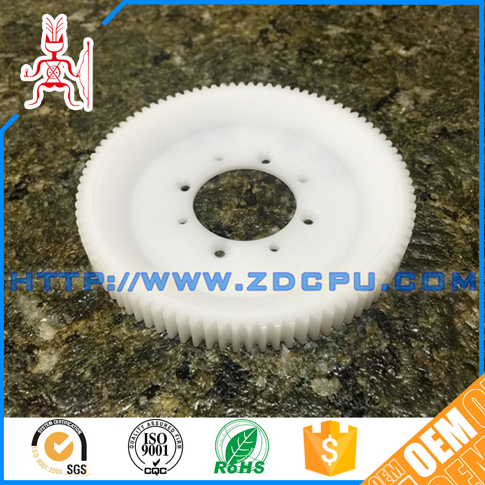 Injection moulding eco-friendly nylon plastic worm wheel gear