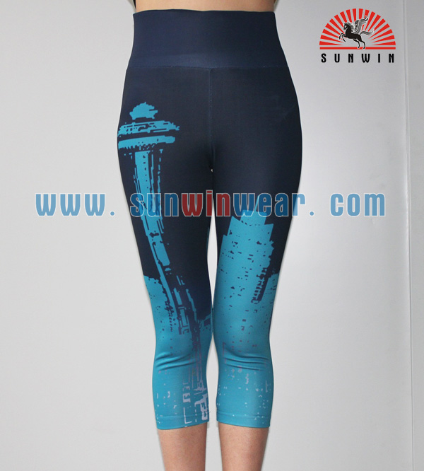 High Quality Printed Fitness Gym Sports Clothing Women Tights Yoga Pants Wholesale China
