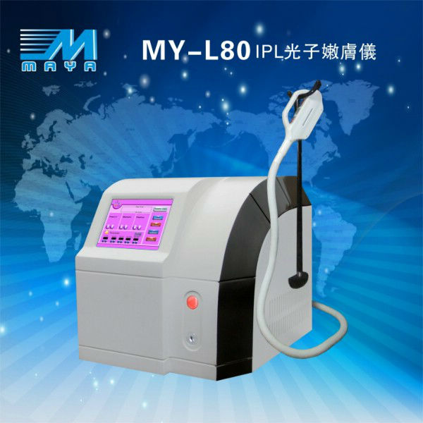 MY-L80 2015 Newest design ipl permanent hair removal beauty equipment/e-light ipl rf+nd yag laser multifunction machine