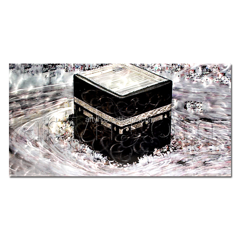Modern Handmade Abstract Khana Kaaba Oil Painting