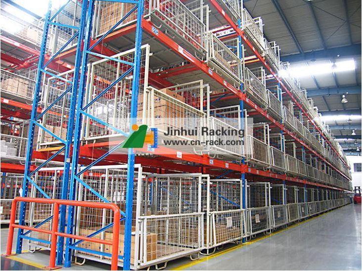 Industry warehouse use folded storage cages wire mesh container