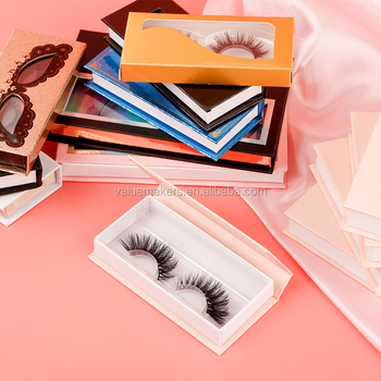 Whosale 5D MINK EYELASHES 25MM mink lash box custom logo Magnetic eyelash packaging box