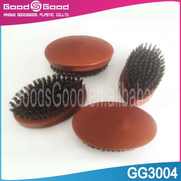 Professional wooden boar bristle beard brush